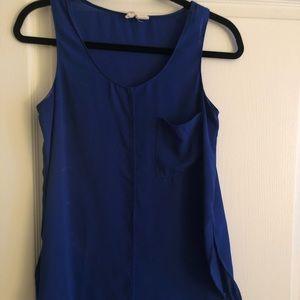 Tops - Royal blue sleeveless top